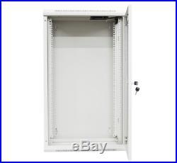 Kenuco 18U White Wall Mount Rack Server Cabinet Data Network Enclosure 19-Inch w