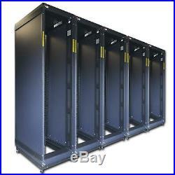 LOT OF 5 Dell 7142 Series 42U Server Rack Enclosure Cabinets NO DOORS