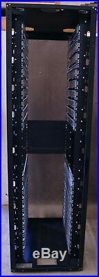 Liebert 50U 19 Server Rack Mount Cabinet Enclosure Rackmount with 18 Rails 92 T
