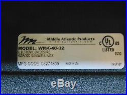 Middle Atlantic WRK Series 19 Gangable Rack Enclosure 40 Space 32 Deep Cabinet