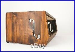 Munstre 3U angled & ventilated desktop audio rack wood enclosure cabinet 2u 4u