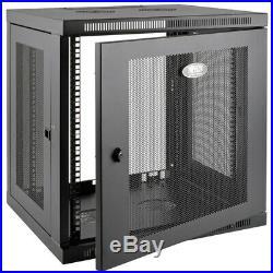 NEW! 12U Smartrack Low-Profile Wall Mount Rack Enclosure Server Cabinet Deep