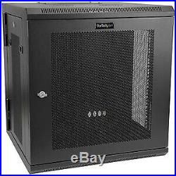 NEW! 12U Wall-Mount Server Rack Cabinet Up To 17 In. Deep Hinged Enclosure