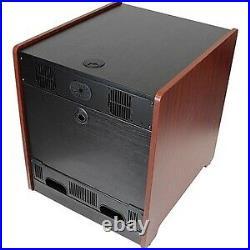 NEW! Startech 12U Rack Enclosure Server Cabinet 20.6 In. Deep Wood Finish Flat P