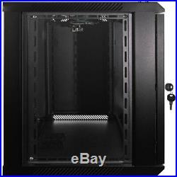 NavePoint18U Wall Mount Network Server Data Cabinet Enclosure Rack Glass Door