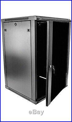 NavePoint 18U Deluxe it Wallmount Cabinet Enclosure 19-inch Server Rack