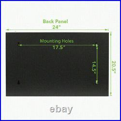 NavePoint 9U Wall-Mount Network Rack Cabinet Enclosure, 600mm Depth, Hinged Back