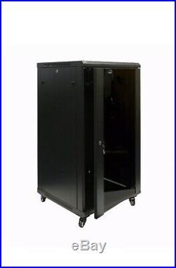 Navepoint 22U Wall Mount Network Server Data Cabinet Rack Enclosures Glass Door