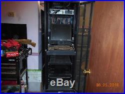 Network Server Cabinet Rack Enclosure mesh Door Lock 39in deep