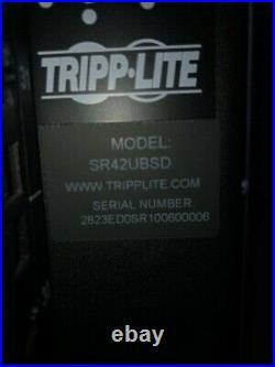 New Tripp Lite Sr42ubsd 42u Server Rack Enclosure Cabinet 32 Inch Depth