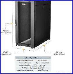 Open Box StarTech. Com RK2537BKM 25U Deep Enclosure Server Rack Cabinet