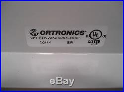 Ortronics Double Hinged Network Rack Enclosure Cabinet OR-ERW262426S-B001