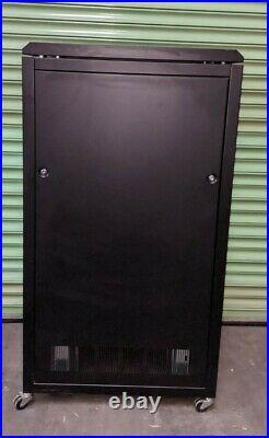 Prism 27U 600 x 800 Black Rack Server Cabinet Enclosure