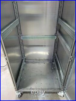 RITTAL SS Stainless Enclosure Cabinet TS-8 TS8 19 rack 2000x800x800 on casters