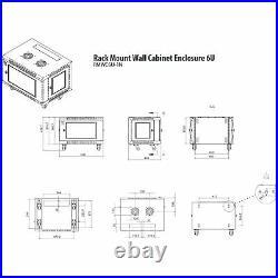 RMWC6U-1N 6U Wall Mount Rack Cabinet Enclosure Fully assembled, vented door