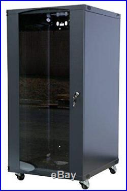 Raising Electronics 15U Wall Mount Network Server Cabinet Rack Enclosure Glass