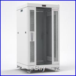 SYSRACKS 18U 35 Deep GRAY Server Lockable Network Data Rack Cabinet Enclosure