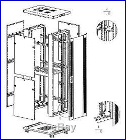 SYSRACKS 32U 35 Deep Free Standing Network Server Rack Cabinet Enclosure Box