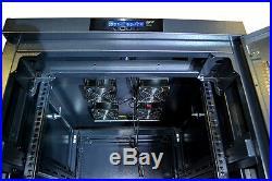 SYSRACKS 32U Free Standing Server Rack Cabinet Enclosure Locakble Glass Door