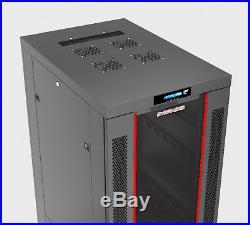 Server IT Lockable Network Data Rack Cabinet Enclosure 42U 32 Depth. CDM