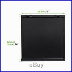 Server Network Rack Deluxe IT Cabinet 19 Wallmount Enclosure Glass Door Locking