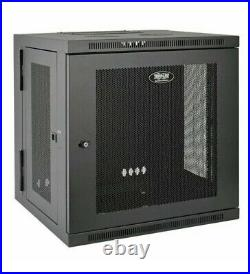 SmartRack 12U UPS-Depth Wall-Mount Rack Enclosure Cabinet, Hinged Back SRW12USDP