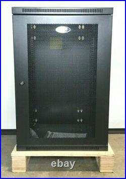 SmartRack 18U Low-Profile Switch-Depth Wall-Mount Rack Enclosure Cabinet AS IS