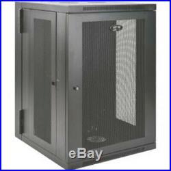 SmartRack 18U UPS-Depth Wall-Mount Rack Enclosure Cabinet, Hinged Back