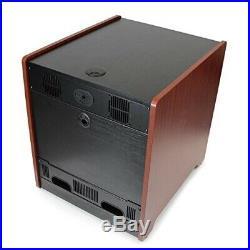 StarTech 12U Rack Enclosure Server Cabinet 20.6 in. Deep Wood Finish Flat