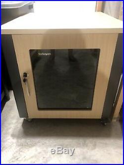 StarTech. Com 12U AV Rack Cabinet Quiet Wood Finish Rack Enclosure Server C