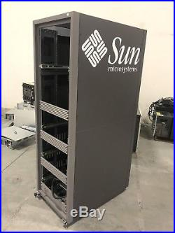 Sun Microsystems M Rack Server Data Cabinet Enclosure with Side Panel, Doors