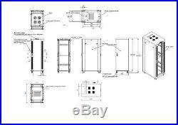 Sysracks 18U 32 Depth New Server It Data Network Rack Cabinet Enclosure Box