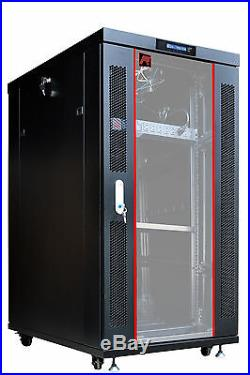 Sysracks 18U 35 Deep 19 IT Free Standing Server Rack Cabinet Enclosure Shelf