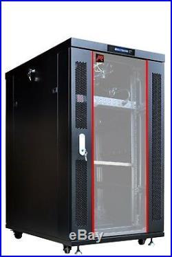 Sysracks 22U 32 Depth Server It Data Network Rack Cabinet Enclosure Box