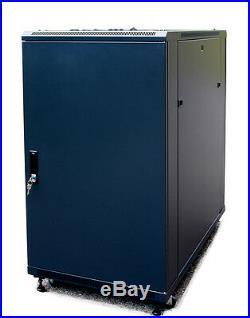 Sysracks 22U 39 Deep 19IT Free Standing Network Server Rack Cabinet Enclosure