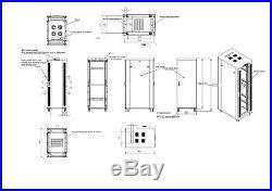 Sysracks 27U 32 Depth Server It Data Network Rack Cabinet Enclosure Box