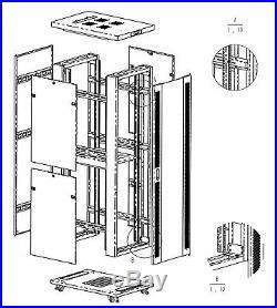 Sysracks 32U 35 Deep 19 IT Network Free Standing Server Rack Cabinet Enclosure