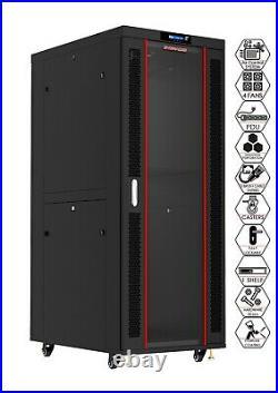 Sysracks 42U Deep 19 IT Network Data Server Rack Cabinet Enclosure