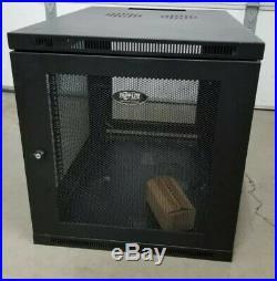 Tripp Lite 12U Wall Mount Rack Enclosure Server Cabinet Hinged 25.5 X 23.5 NEW