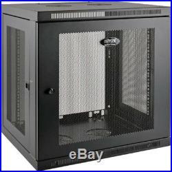 Tripp Lite 12U Wall Mount Rack Enclosure Server Cabinet Low Profile Deep