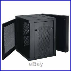 Tripp Lite 12u Wall Mount Rack Enclosure Server Cabinet Swinging Hinged Door