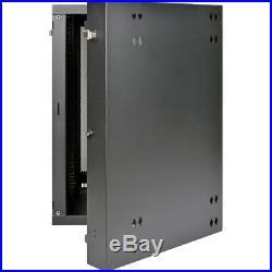 Tripp Lite 18u Wall Mount Rack Enclosure Server Cabinet Swinging Hinged Door