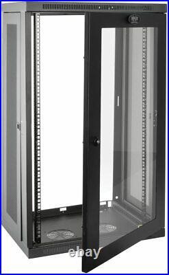 Tripp Lite 21U Wall Mount Rack Enclosure Server Cabinet withAcrylic Door SRW21UG
