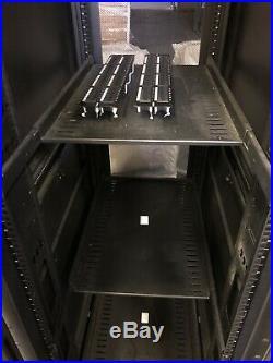 Tripp Lite 42U Rack Enclosure Server Cabinet Doors & Sides 2400LBS Capacity