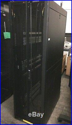 Tripp Lite 42U SmartRack Standard-Depth Server Rack Cabinet SR42UB READ