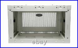 Tripp Lite 6U Wall Mount Rack Enclosure Server Cabinet 16.5 Deep White SRW6UW