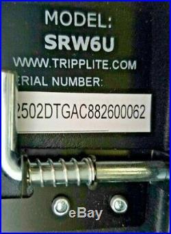 Tripp Lite 6U Wall Mount Rack Enclosure Server Cabinet Switch-Depth with Door