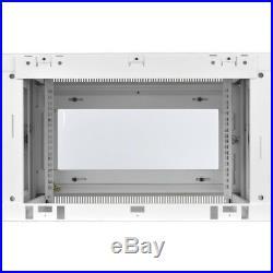 Tripp Lite 6u Wall Mount Rack Enclosure Cabinet White With Acrylic Glass Door