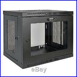 Tripp Lite 9U Wall Mount Rack Enclosure Server Cabinet with Acrylic Glass Win