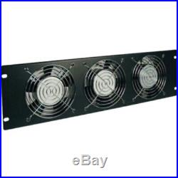 Tripp Lite Rack Enclosure Cabinet Fan Panel Airflow Management 120V 3URM 3 Fan